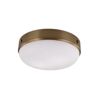 Feiss Cadence 2 - Light Indoor Flushmount, Dark Antique Brass