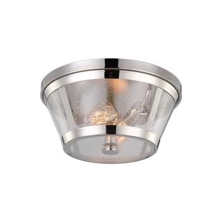 Harrow Polished Nickel 2-light Flush Mount Fixture