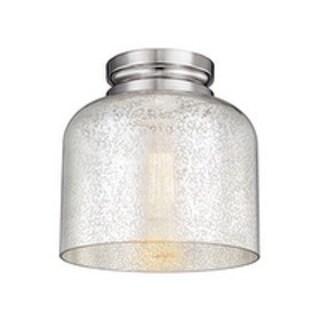 Hounslow 8 .88-inch Polished Nickel 1-light Flush Mount Fixture