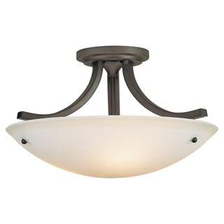 Gravity Semi Oil Rubbed Bronze 3-light Semi Flush Fixture
