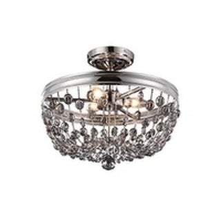 Feiss Malia 3 - Light Malia Semi Flush Mount, Polished Nickel