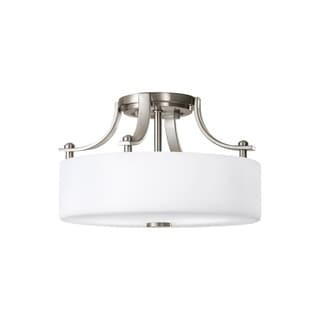 Sunset Drive Semi Brushed Steel 2-light Semi Flush Fixture