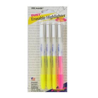 DriMark Erasable Highlighter (4 Packs of 4)