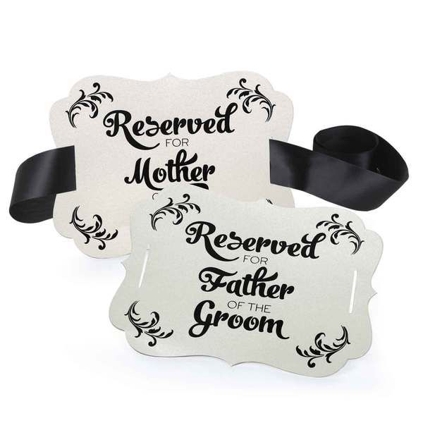 Reserved Chair Decorations- Parents of Groom