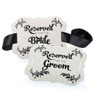 Reserved Chair Decorations- Bride and Groom