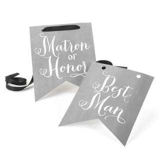 Charming Vintage Matron of Honor and Best Man Signs
