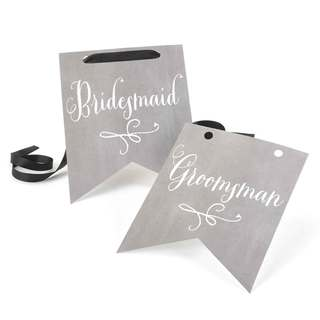 Charming Vintage Bridesmaid and Groomsman Signs