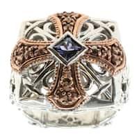 Dallas Prince Sterling Silver Tanzanite and Marcasite Ring