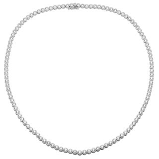 Sterling Essentials Silver 18-inch Cubic Zirconia Riviera Necklace