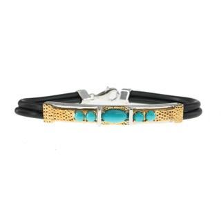 Michael Valitutti Men's Sleeping Beauty Turquoise Bracelet