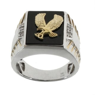 Michael Valitutti Black Onyx 'Eagle' Ring