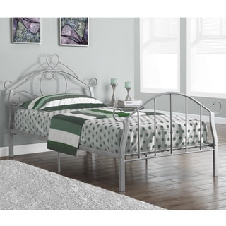 Silver Metal Twin-size Bed Frame
