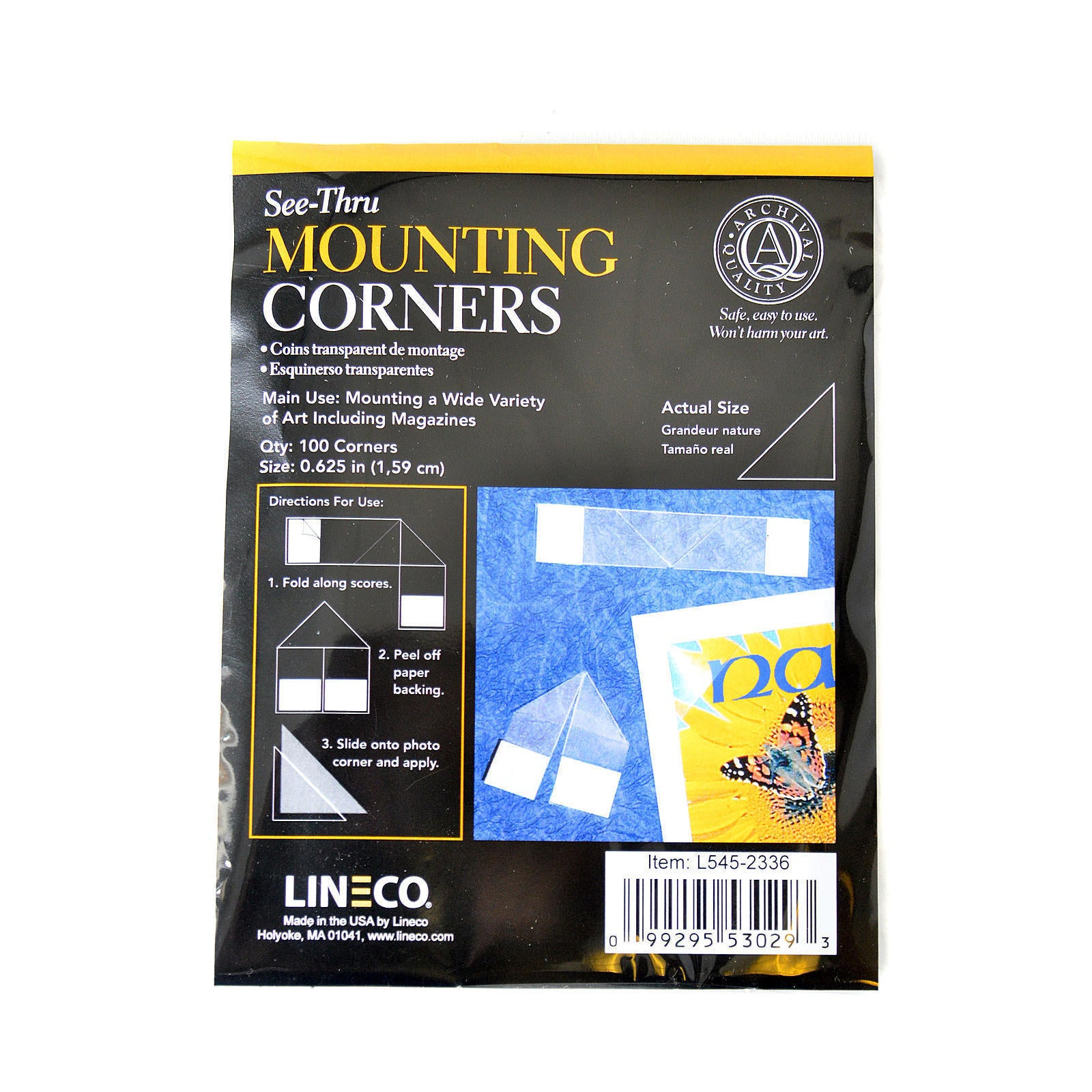 Lineco See-Thru Mounting Corners (Pack of 3) (pack of 100...