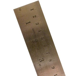 Pacific Arc Stainless Steel Rulers Inch/Metric with Conversion Table