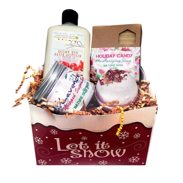 Let It Snow Lotion, Scrub, Soap and Bath Bomb Gift Set