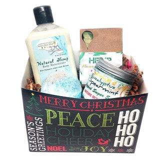 Nature Skin Shop Ho Ho Ho Merry 4-piece Hemp Gift Set