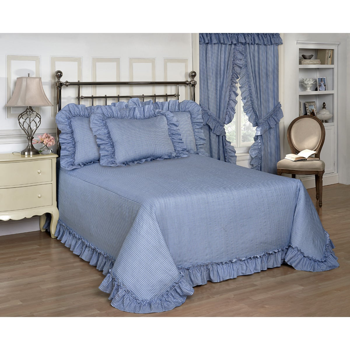 Madison The Gray Barn Crooked Creek Blue Gingham Bedsprea...