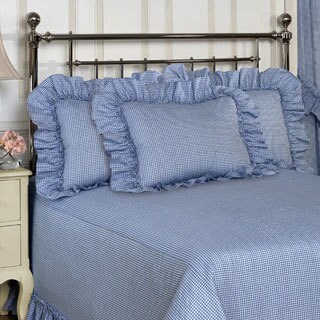 The Gray Barn Crooked Creek Blue Gingham Bedspread (5 options available)