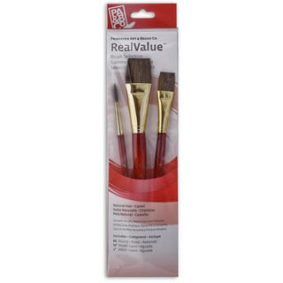 Princeton Real Value Series 9000 Red Short Handled Brush Sets