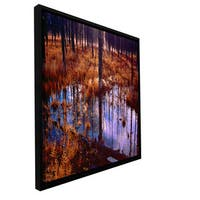 ArtWall Dean Uhlinger 'Yellowstone Morning' Floater Framed Gallery-wrapped Canvas