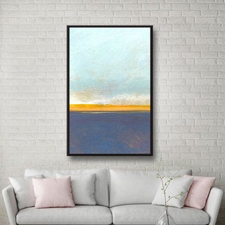 ArtWall Jan Weiss 'Big Sky Country I' Floater Framed Gallery-wrapped Canvas