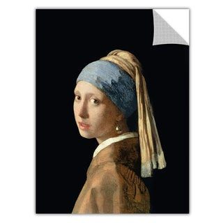 Art Appealz Johannes Vermeer 'Girl With A Pearl Earring' Removable Wall Art Graphic