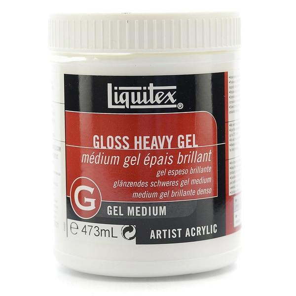 Liquitex acrylic gloss heavy gel medium free shipping on for Gloss medium for acrylic painting