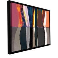 ArtWall Dean Uhlinger 'Geometric Evolution' Floater Framed Gallery-wrapped Canvas