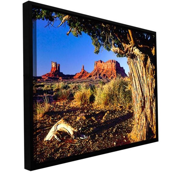 ArtWall Dean Uhlinger 'Monument Valley Morn' Floater Framed Gallery-wrapped Canvas