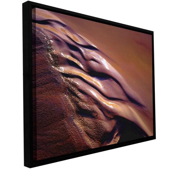 ArtWall Dean Uhlinger 'Brief Desert Water' Floater Framed Gallery-wrapped Canvas