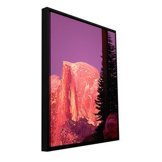 ArtWall Dean Uhlinger 'Halfdome Glow' Floater Framed Gallery-wrapped Canvas