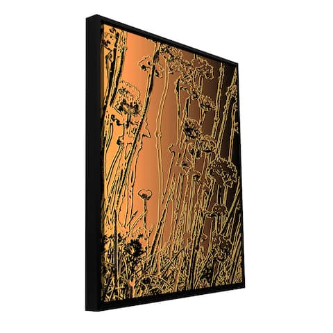ArtWall Dean Uhlinger 'In The Garden' Floater Framed Gallery-wrapped Canvas