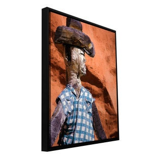 ArtWall Dean Uhlinger 'Guardian Of The West' Floater Framed Gallery-wrapped Canvas