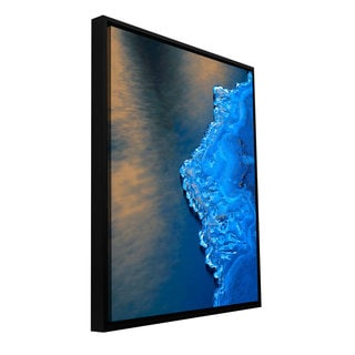 ArtWall Dean Uhlinger 'Ice On The Merced Yosemite' Floater Framed Gallery-wrapped Canvas