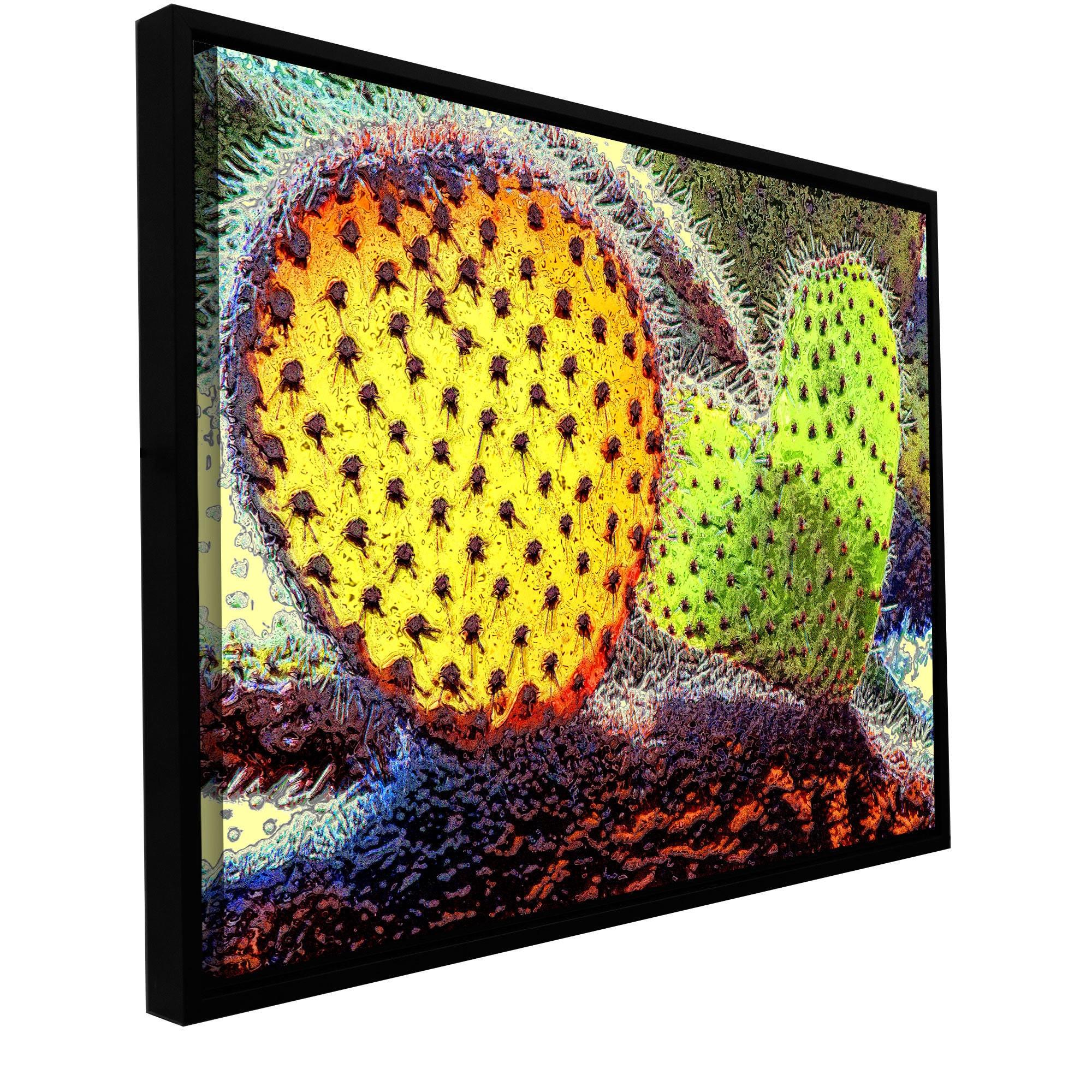 ArtWall Dean Uhlinger \'defensive Heart\' Floater Framed Gallery ...