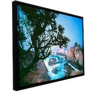 ArtWall Dean Uhlinger 'Lifting Fog At Cypress Point' Floater Framed Gallery-wrapped Canvas - Multi
