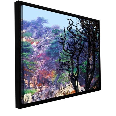 ArtWall Dean Uhlinger 'Point Lobos Morning' Floater Framed Gallery-wrapped Canvas