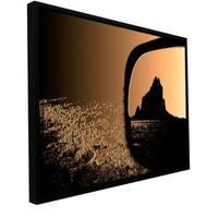 ArtWall Dean Uhlinger 'Shiprock' Floater Framed Gallery-wrapped Canvas