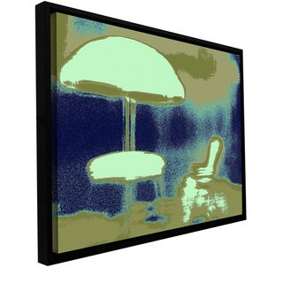 ArtWall Dean Uhlinger 'Summer Through The Screen' Floater Framed Gallery-wrapped Canvas
