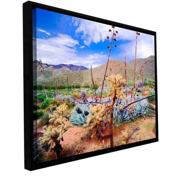 ArtWall Dean Uhlinger 'The People'S Homeland' Floater Framed Gallery-wrapped Canvas