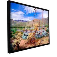 ArtWall Dean Uhlinger 'The People'S Homeland' Floater Framed Gallery-wrapped Canvas - Multi