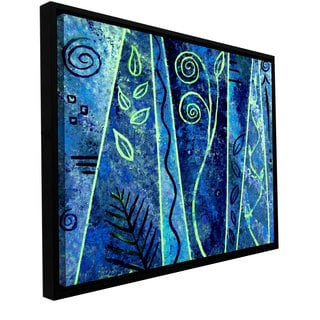 ArtWall Herb Dickinson 'Abstract 417' Floater Framed Gallery-wrapped Canvas