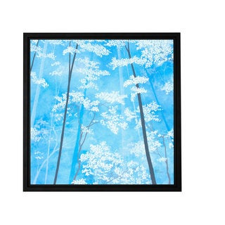 ArtWall Herb Dickinson 'Spring Forest 1' Floater Framed Gallery-wrapped Canvas