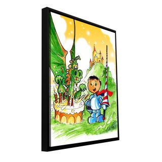 ArtWall Luis Peres 'Knight Kid' Floater Framed Gallery-wrapped Canvas