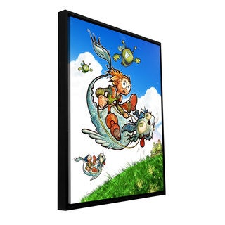 ArtWall Luis Peres 'Flying 1' Floater Framed Gallery-wrapped Canvas