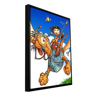 ArtWall Luis Peres 'Flying 2' Floater Framed Gallery-wrapped Canvas
