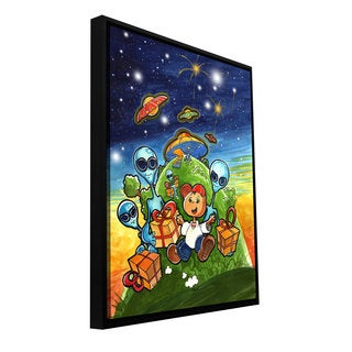 ArtWall Luis Peres 'Happy Birthday' Floater Framed Gallery-wrapped Canvas