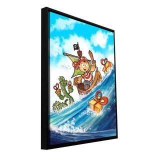 ArtWall Luis Peres 'Kid Pirate' Floater Framed Gallery-wrapped Canvas