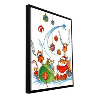 ArtWall Luis Peres 'Santaclausgang' Floater Framed Gallery-wrapped Canvas