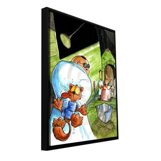 ArtWall Luis Peres 'Shroddingers Cat' Floater Framed Gallery-wrapped Canvas